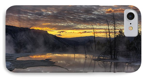 Sunrise On The Terrace IPhone Case by Mark Kiver