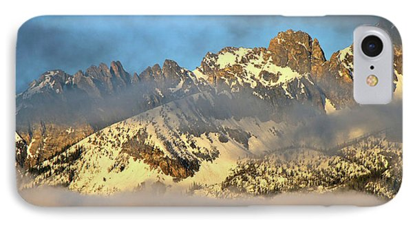 Sunrise On Thompson Peak IPhone Case by Ed  Riche