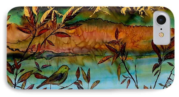 Sunrise On Willows Phone Case by Carolyn Doe