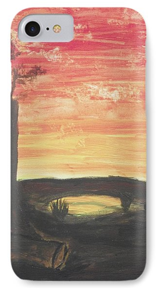 IPhone Case featuring the painting Sunrise Or Sunset by Martin Blakeley