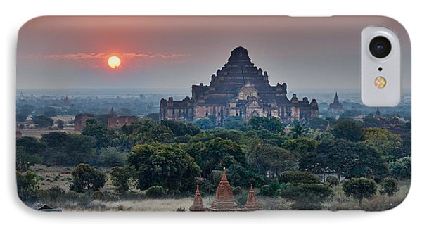 sunrise over Bagan Phone Case by Juergen Ritterbach