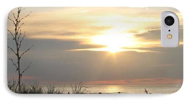 IPhone Case featuring the photograph Sunrise Over Beach Dune by Robert Banach