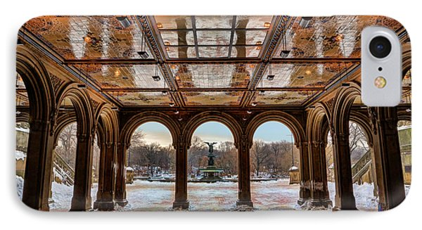 Sunrise Over Bethesda Terrace Lower Passage IPhone Case by Lee Dos Santos