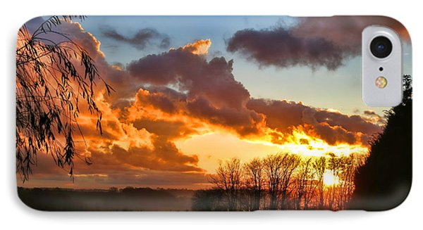 Sunrise Over Countryside Phone Case by Olivier Le Queinec