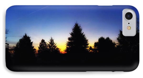 Sunrise Over East Lawn Panorama Phone Case by Thomas Woolworth