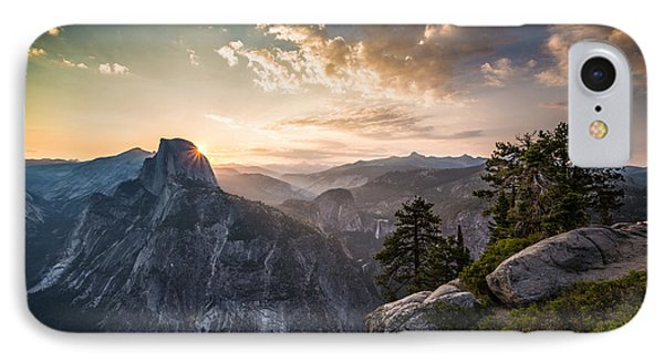 Sunrise Over Half Dome At Glacier Point IPhone Case