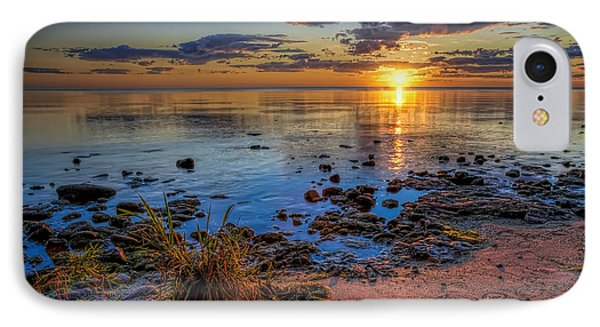 Sunrise Over Lake Michigan IPhone Case by Scott Norris