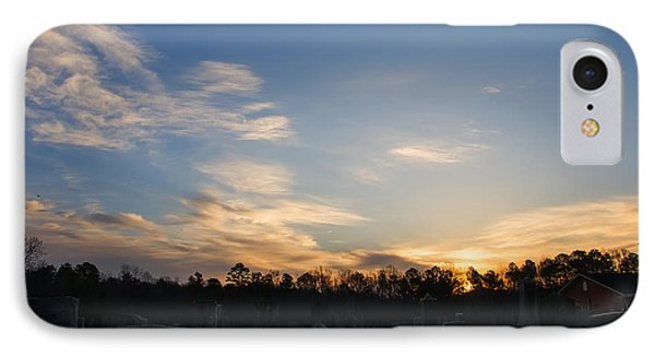 Sunrise Over The Cemetary IPhone Case