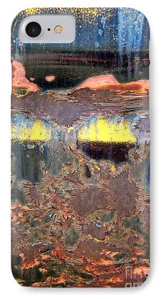 Sunrise Over The Lake Abstract Phone Case by Lee Craig