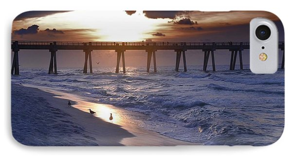 Sunrise Over The Pier IPhone Case