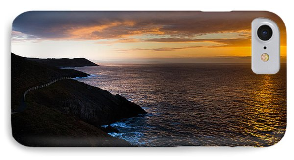 Sunrise Over The Wales Coast Path IPhone Case by Paul Cowan