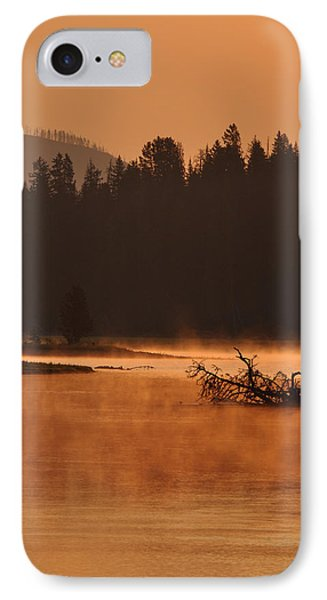 Sunrise Over The Yellowstone River IPhone Case