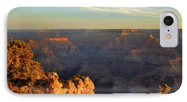 IPhone Case featuring the photograph Sunrise Over Yaki Point At The Grand Canyon by Alan Vance Ley