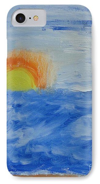IPhone Case featuring the painting Sunrise by PainterArtist FINs daughter