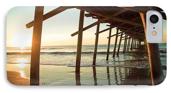 Sunrise Pier IPhone Case by Jill Laudenslager