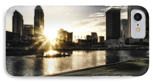 Sunrise Row IPhone Case by Michael White