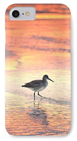Sunrise Shorebird IPhone Case by Henry Kowalski