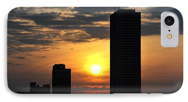 Sunrise Silhouette Buffalo Ny V2 IPhone Case by Michael Frank Jr