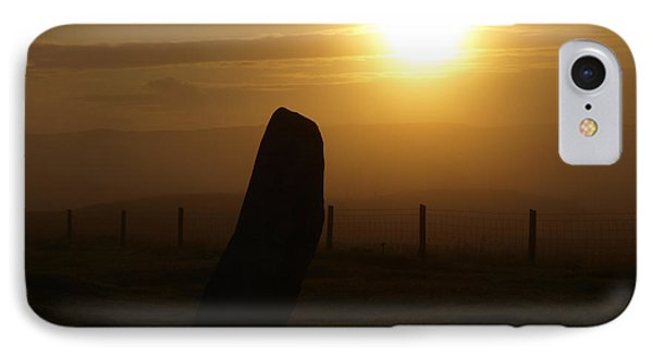 Sunrise Silhouette Scotland Phone Case by Michaela Perryman