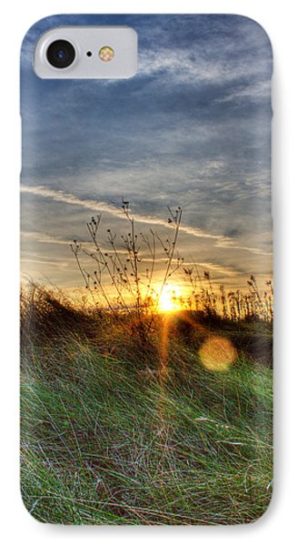 Sunrise Through Grass Phone Case by Tim Buisman