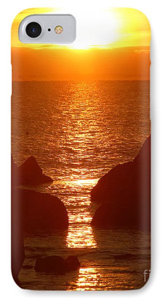 Sunrise Through The Rocks IPhone Case