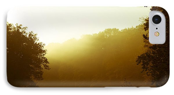 IPhone Case featuring the photograph Sunrise Thru The Fog by Phil Abrams