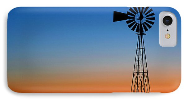 Sunrise Windmill IPhone Case by Steven Reed
