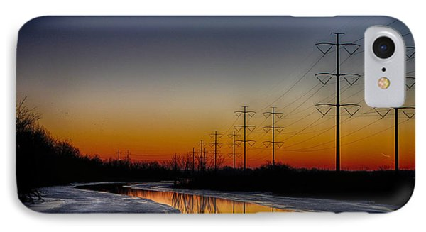 Sunrise Winter Reflection IPhone Case by Jerome Lynch