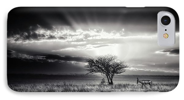 Sunrise With Hartebeest IPhone Case