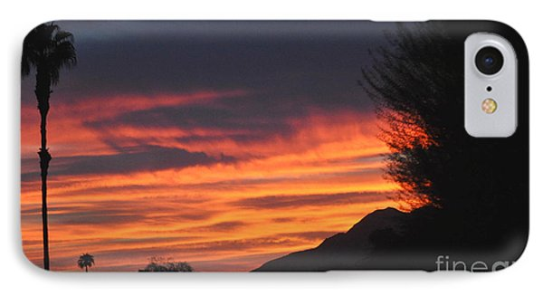 Sunrise With Lone Sentinel Over Desert IPhone Case by Jay Milo