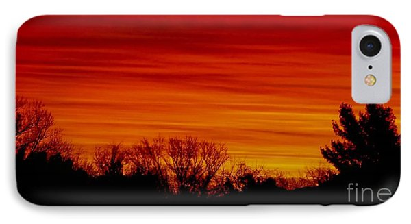 Sunrise Y-town IPhone Case by Angela J Wright