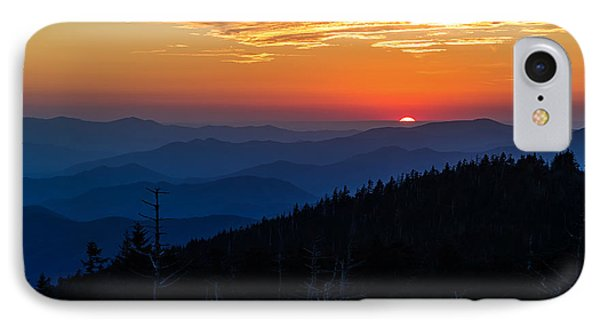 Sun's Last Peak Over The Blue Ridge IPhone Case