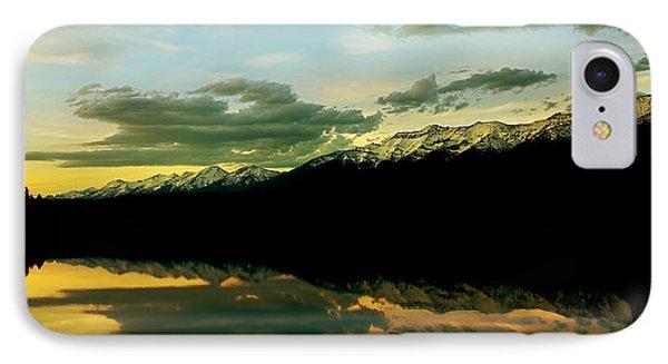 Sunset 1 Rainy Lake Phone Case by Janie Johnson