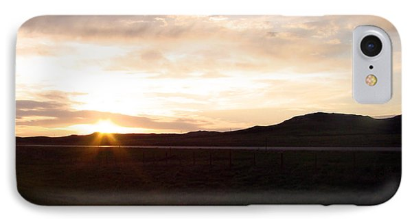 IPhone Case featuring the photograph Sunset Across I 90 by Cathy Anderson