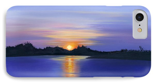 IPhone Case featuring the painting Sunset Across The River by Elizabeth Lock