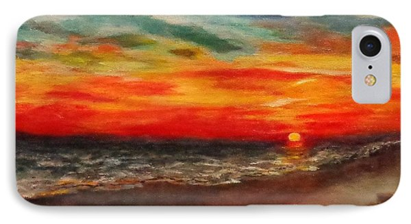 Sunset After Sandy Phone Case by Annie St Martin