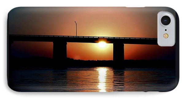 IPhone Case featuring the photograph Sunset And Bridge by Debra Forand