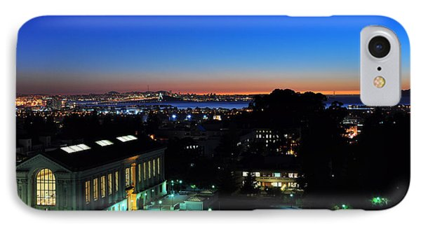 Sunset And Crescent Moon Over Campus IPhone Case