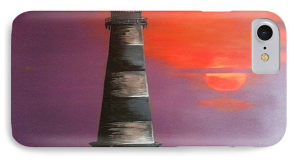 Sunset And Lighthouse IPhone Case
