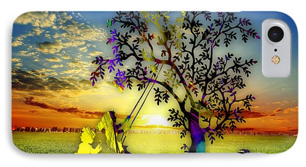 Sunset And Play IPhone Case by Marvin Blaine