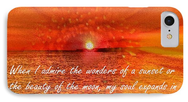 Sunset And Worship Of The Creator By Saribelle Rodriguez IPhone Case