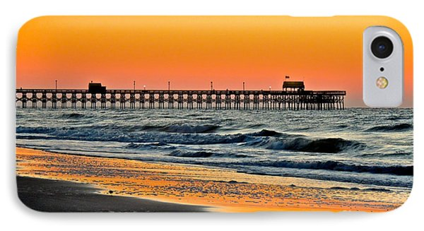 IPhone Case featuring the photograph Sunset Apache Pier by Eve Spring