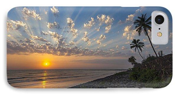 Sunset At Alibag, Alibag, 2007 IPhone Case by Hitendra SINKAR