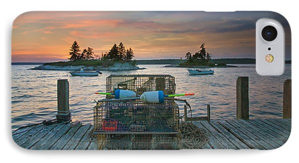 Sunset At Allen's Dock IPhone Case by Darylann Leonard Photography