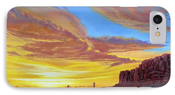 Sunset At Arches IPhone Case by Paul Krapf