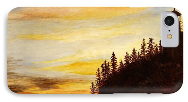 IPhone Case featuring the painting Sunset At Bass Harbor by Lee Piper