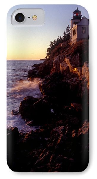 Sunset At Bass Harbor Lighthouse Phone Case by Brent L Ander