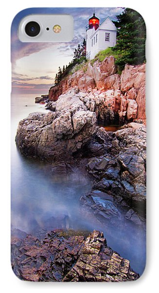 Sunset At Bass Harbor Lighthouse IPhone Case