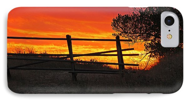 Sunset At Bear Butte IPhone Case by Mary Carol Story