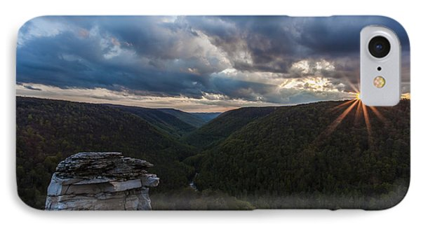 Sunset At Blackwater Falls State Park Phone Case by Amber Kresge